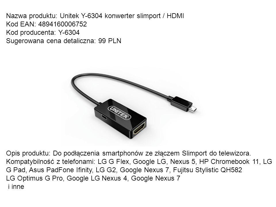 Nazwa produktu: Unitek Y-6304 konwerter slimport / HDMI