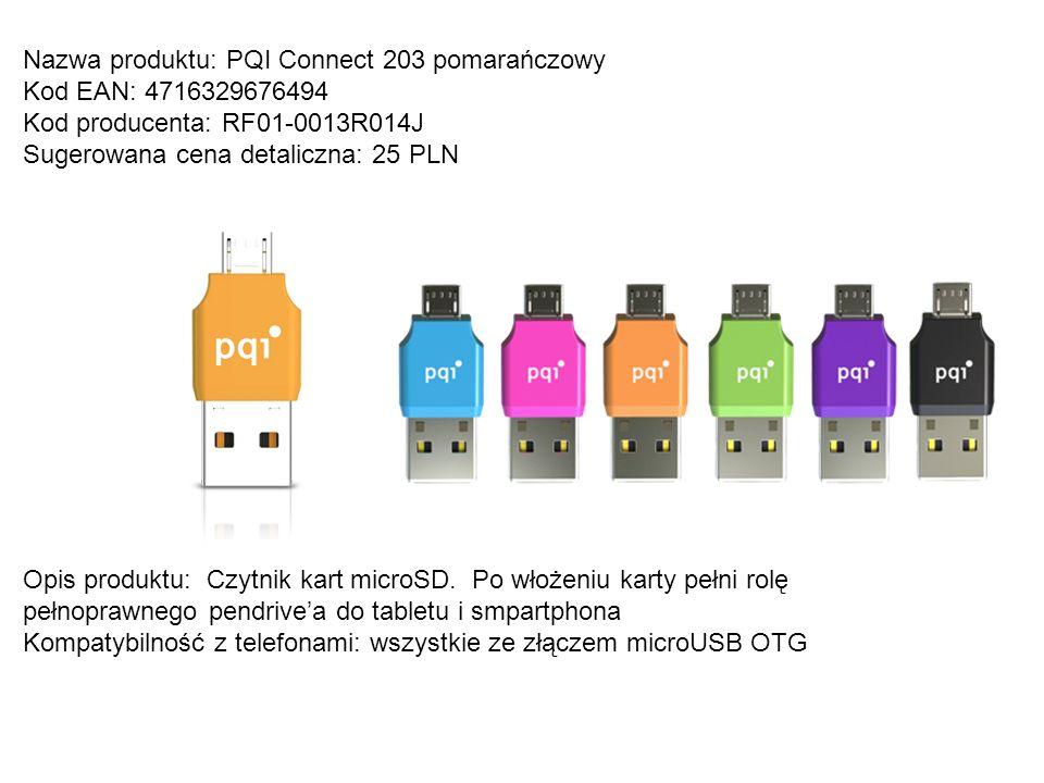 Nazwa produktu: PQI Connect 203 pomarańczowy