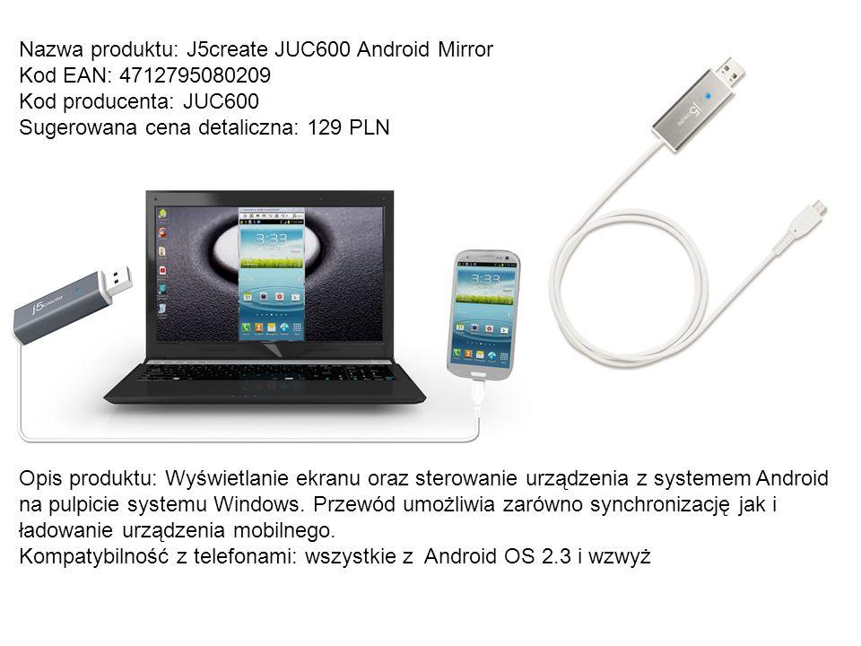 Nazwa produktu: J5create JUC600 Android Mirror