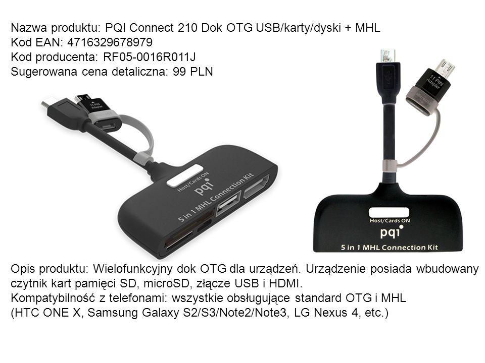 Nazwa produktu: PQI Connect 210 Dok OTG USB/karty/dyski + MHL