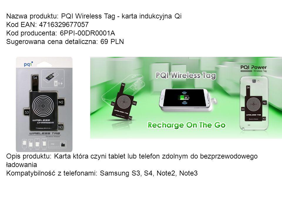 Nazwa produktu: PQI Wireless Tag - karta indukcyjna Qi