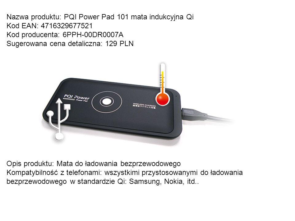 Nazwa produktu: PQI Power Pad 101 mata indukcyjna Qi
