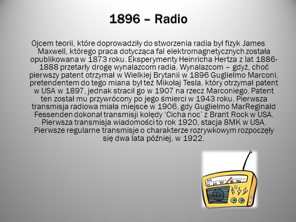 1896 – Radio