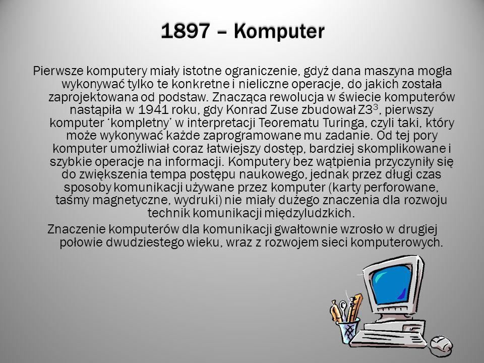 1897 – Komputer