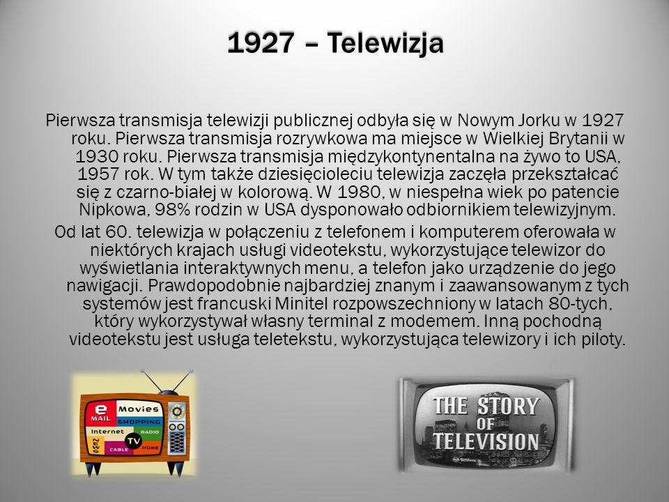 1927 – Telewizja