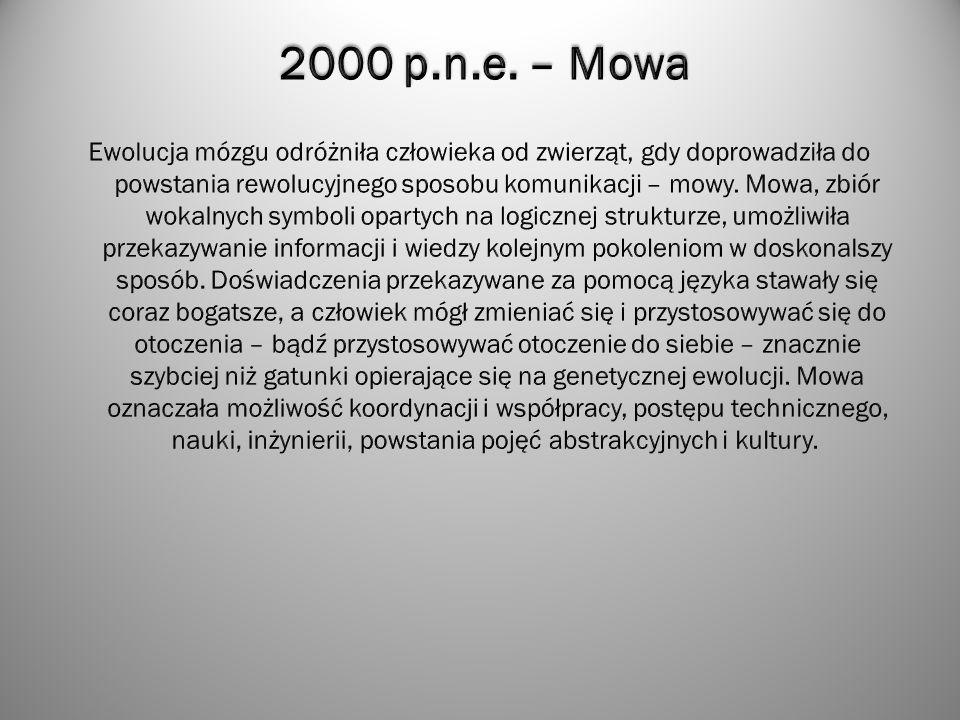 2000 p.n.e. – Mowa