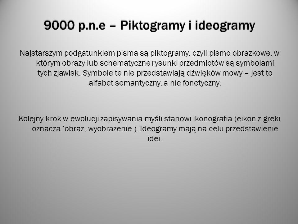 9000 p.n.e – Piktogramy i ideogramy