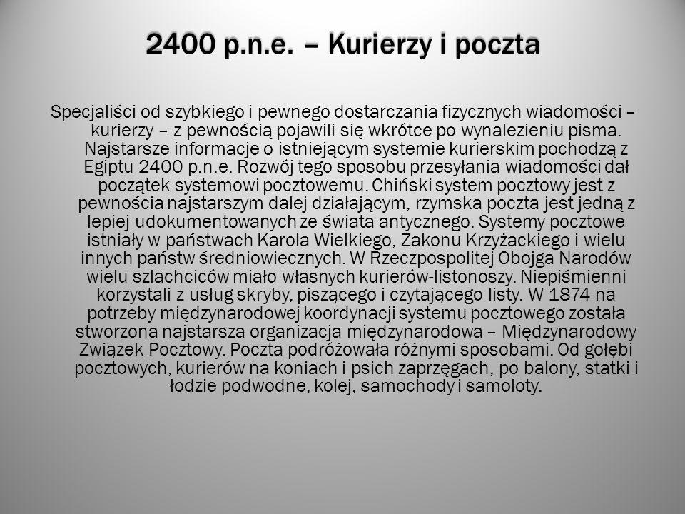 2400 p.n.e. – Kurierzy i poczta