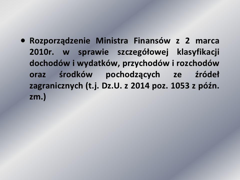 ·. Rozporządzenie Ministra Finansów z 2 marca 2010r