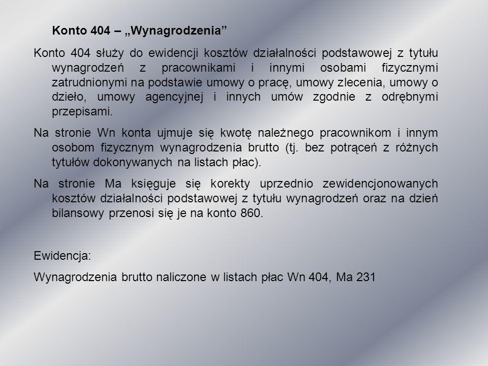 """Konto 404 – """"Wynagrodzenia"""