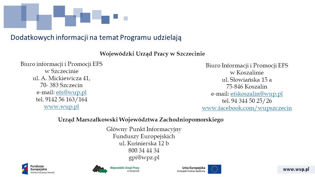 Dodatkowych informacji na temat Programu udzielają
