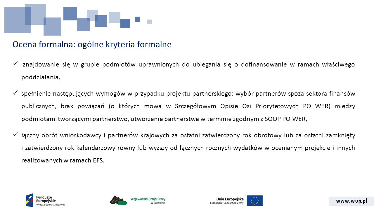 Ocena formalna: ogólne kryteria formalne