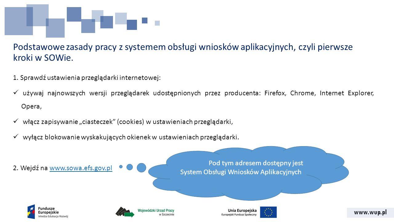 Pod tym adresem dostępny jest System Obsługi Wniosków Aplikacyjnych