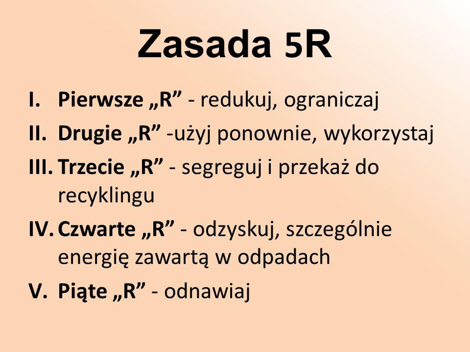 """Zasada 5R Pierwsze """"R - redukuj, ograniczaj"""