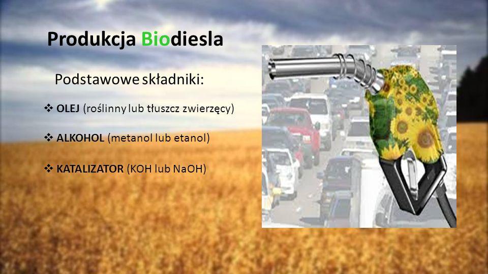 Produkcja Biodiesla Podstawowe składniki: