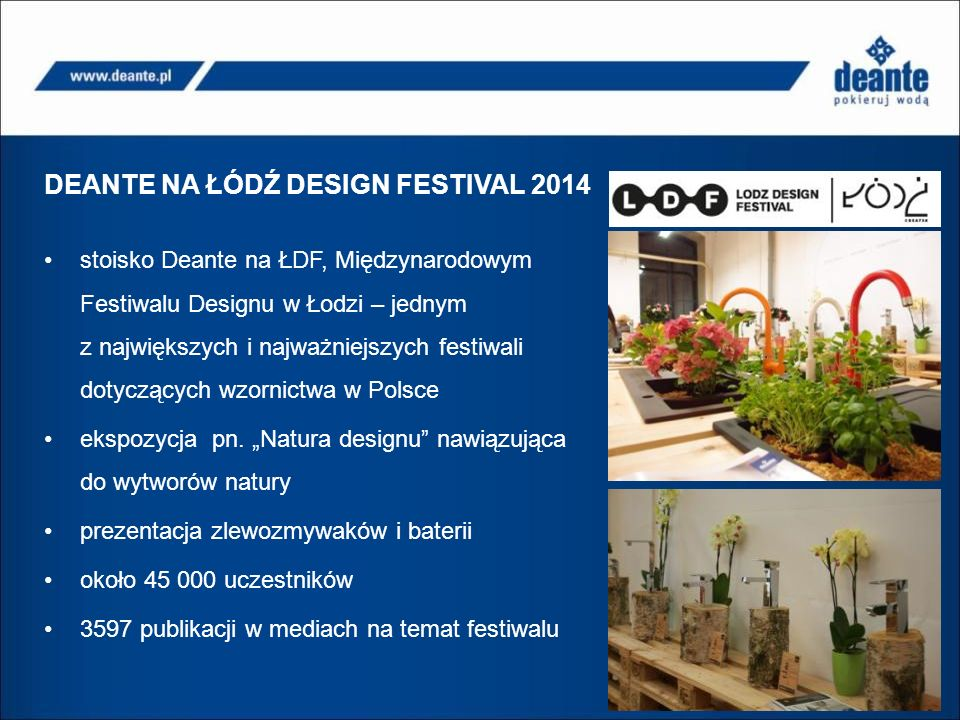 DEANTE NA ŁÓDŹ DESIGN FESTIVAL 2014