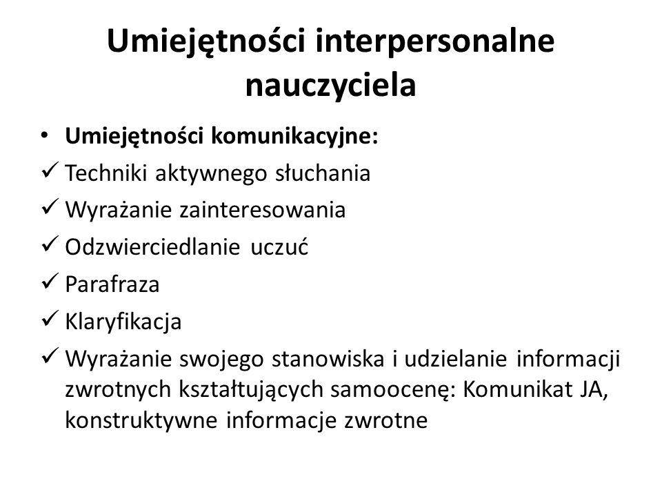 Umiejętności interpersonalne nauczyciela