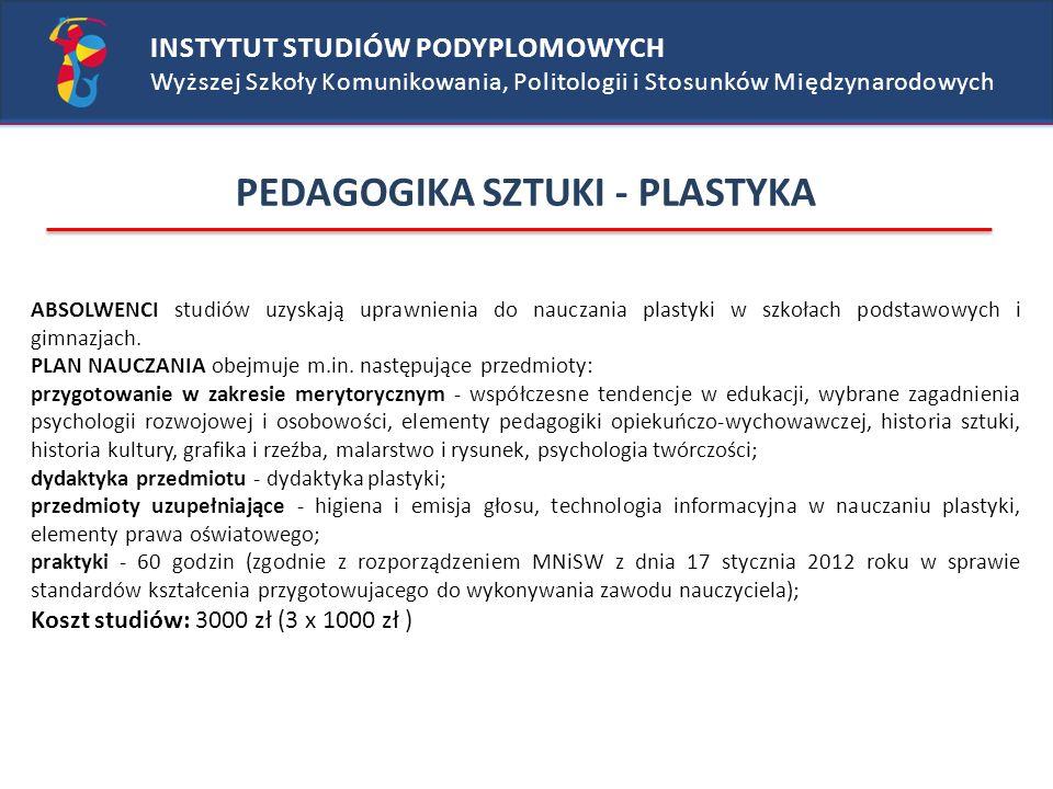 PEDAGOGIKA SZTUKI - PLASTYKA