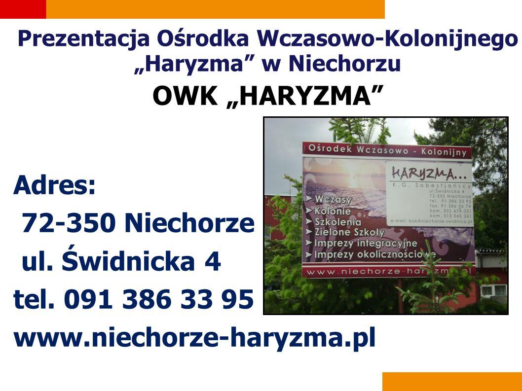"""Prezentacja Ośrodka Wczasowo-Kolonijnego """"Haryzma w Niechorzu"""