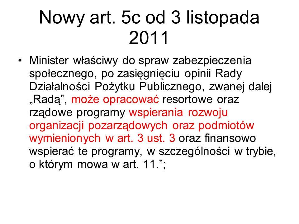 Nowy art. 5c od 3 listopada 2011
