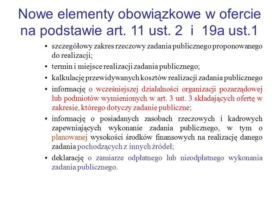 Nowe elementy obowiązkowe w ofercie na podstawie art. 11 ust
