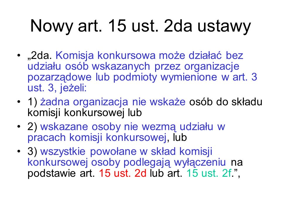 Nowy art. 15 ust. 2da ustawy