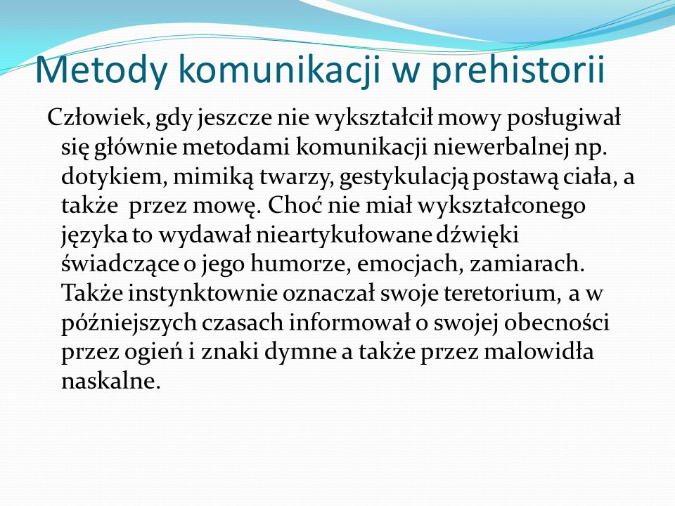 Metody komunikacji w prehistorii