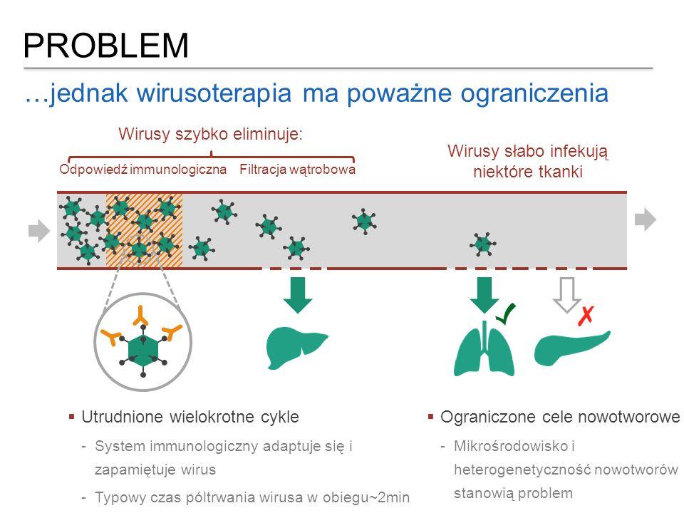 PROBLEM …jednak wirusoterapia ma poważne ograniczenia