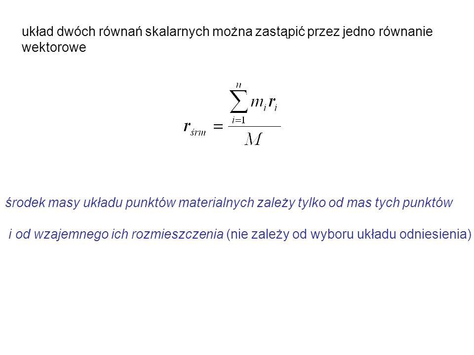 układ dwóch równań skalarnych można zastąpić przez jedno równanie