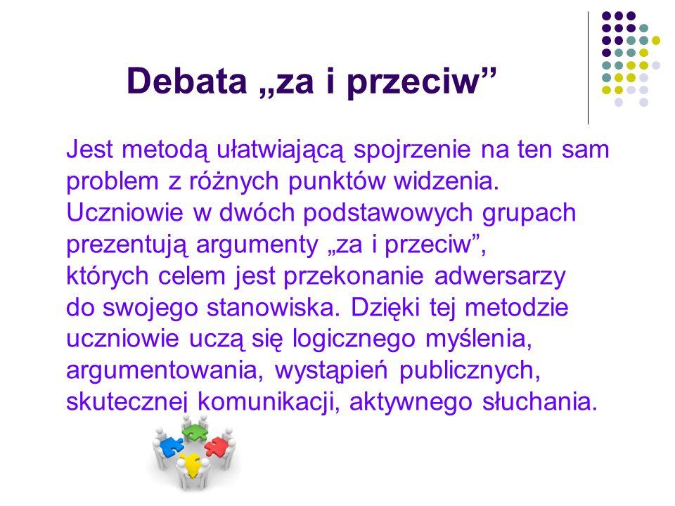"""Debata """"za i przeciw"""