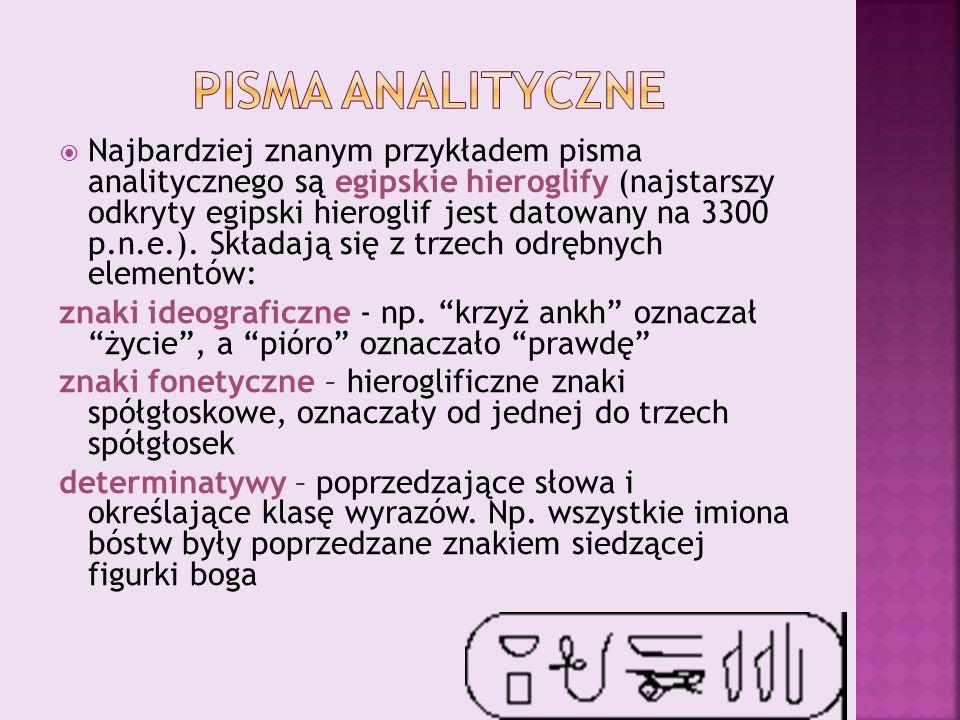 Pisma analityczne