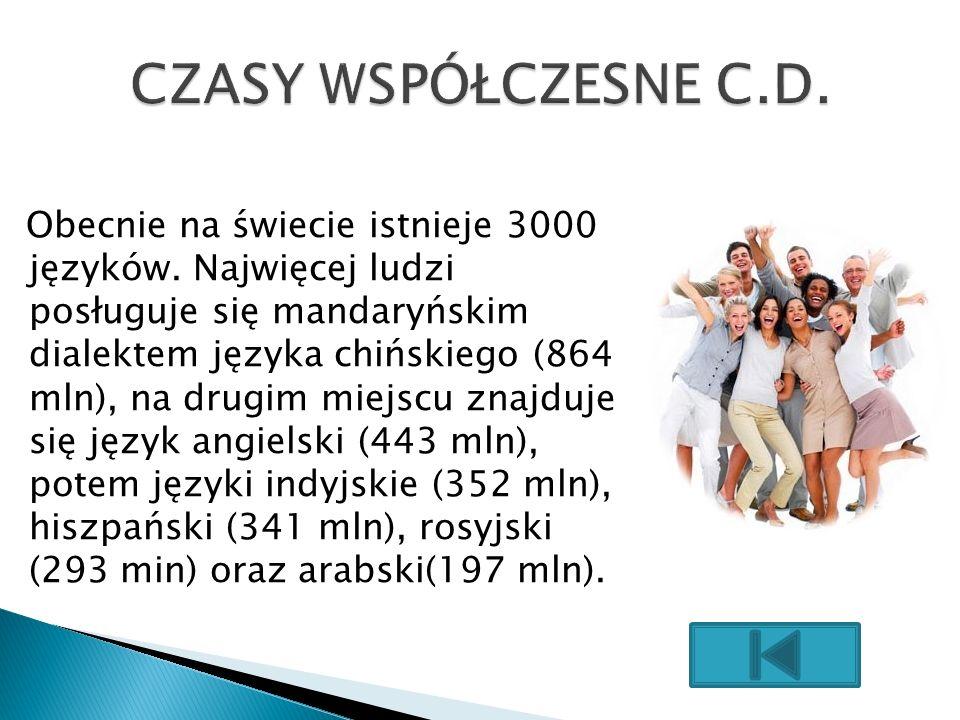 CZASY WSPÓŁCZESNE C.D.