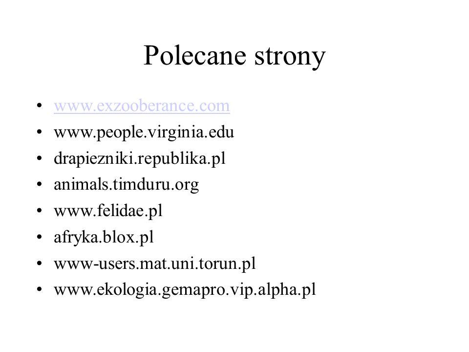 Polecane strony www.exzooberance.com www.people.virginia.edu