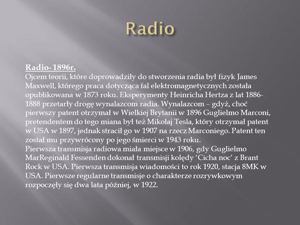 Radio Radio- 1896r.
