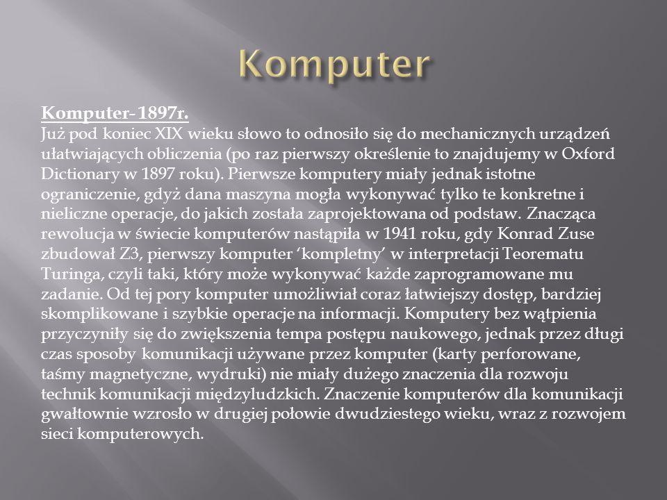 Komputer Komputer- 1897r.