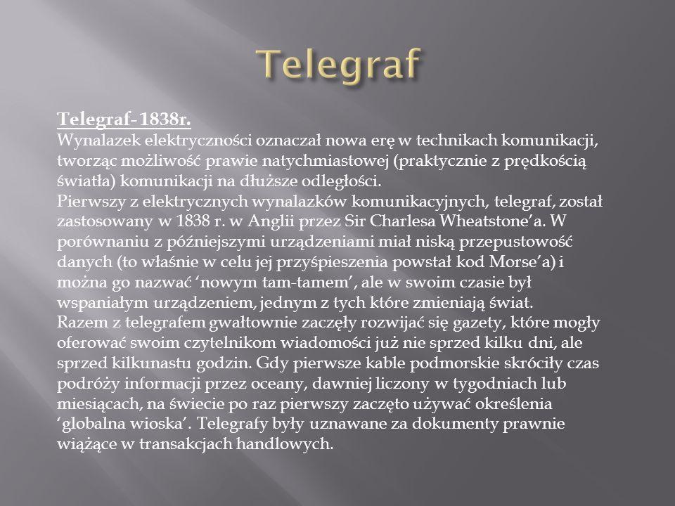 Telegraf Telegraf- 1838r.