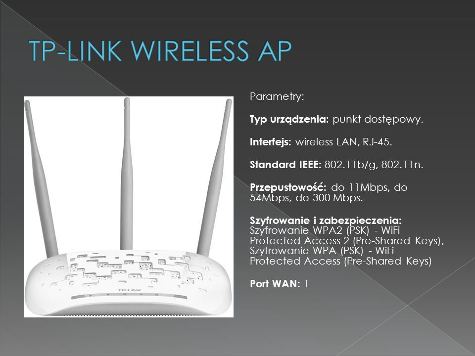 TP-LINK WIRELESS AP