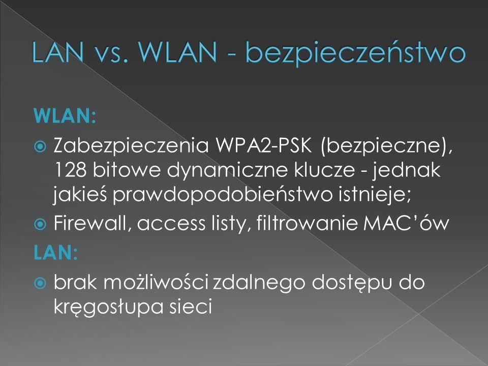 LAN vs. WLAN - bezpieczeństwo
