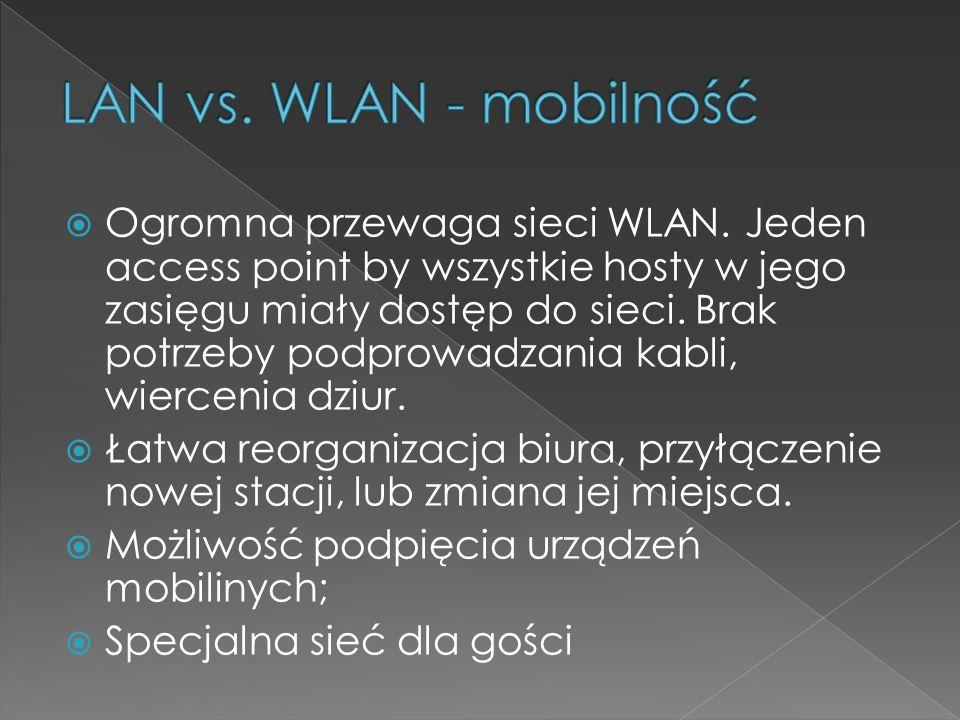 LAN vs. WLAN - mobilność