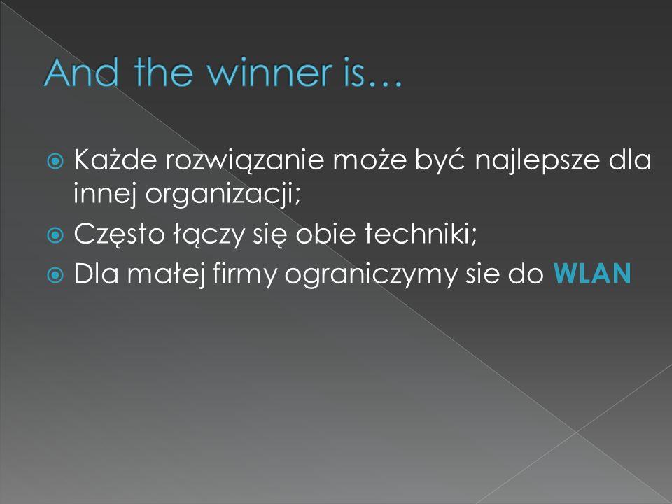 And the winner is… Każde rozwiązanie może być najlepsze dla innej organizacji; Często łączy się obie techniki;