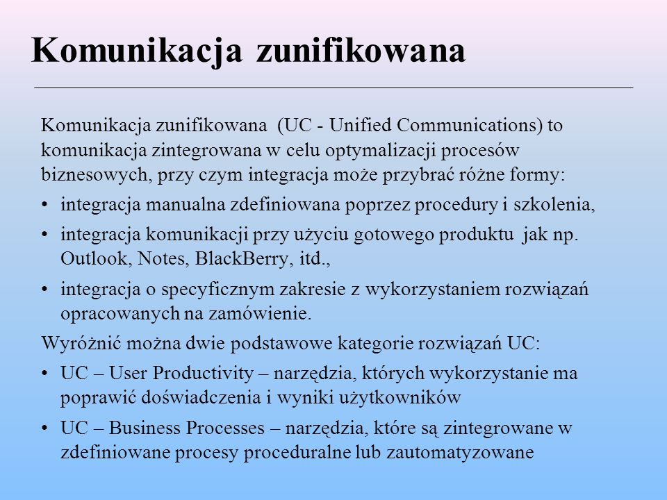 Komunikacja zunifikowana