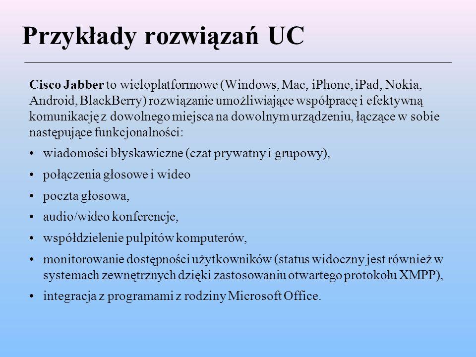 Przykłady rozwiązań UC