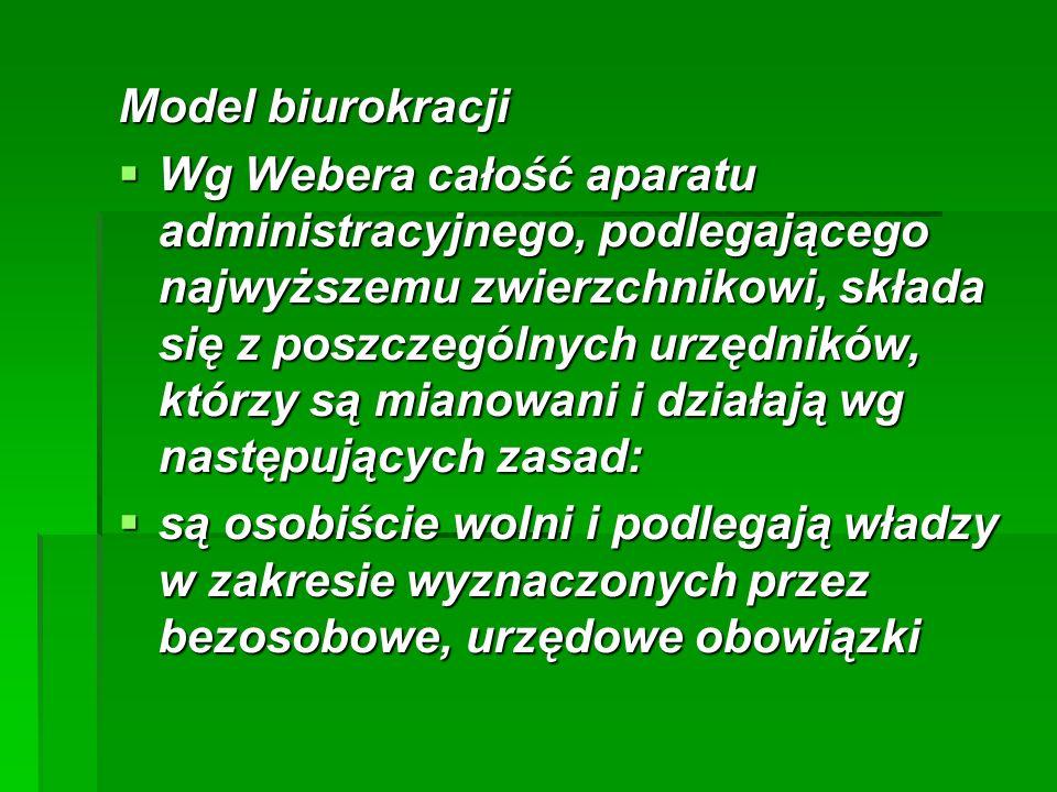 Model biurokracji