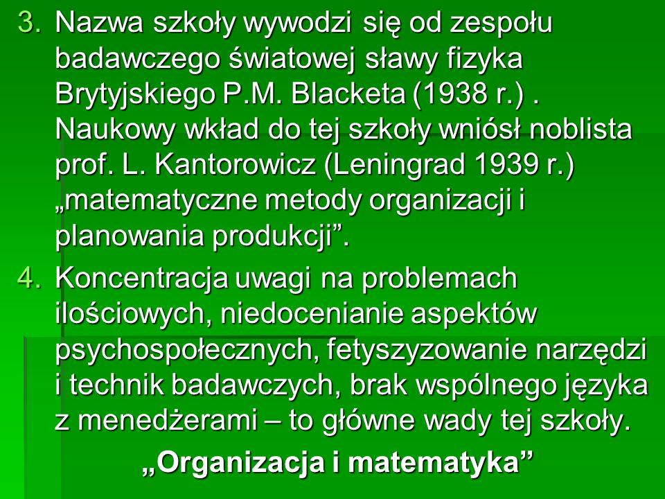 """Organizacja i matematyka"