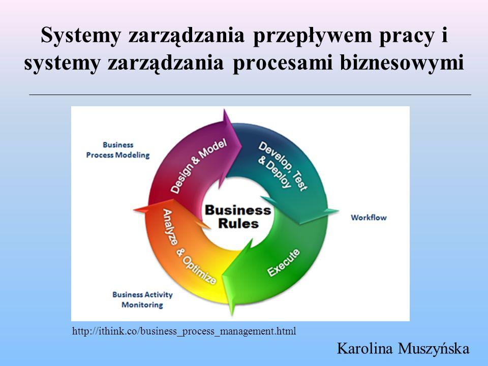 Systemy zarządzania przepływem pracy i systemy zarządzania procesami biznesowymi