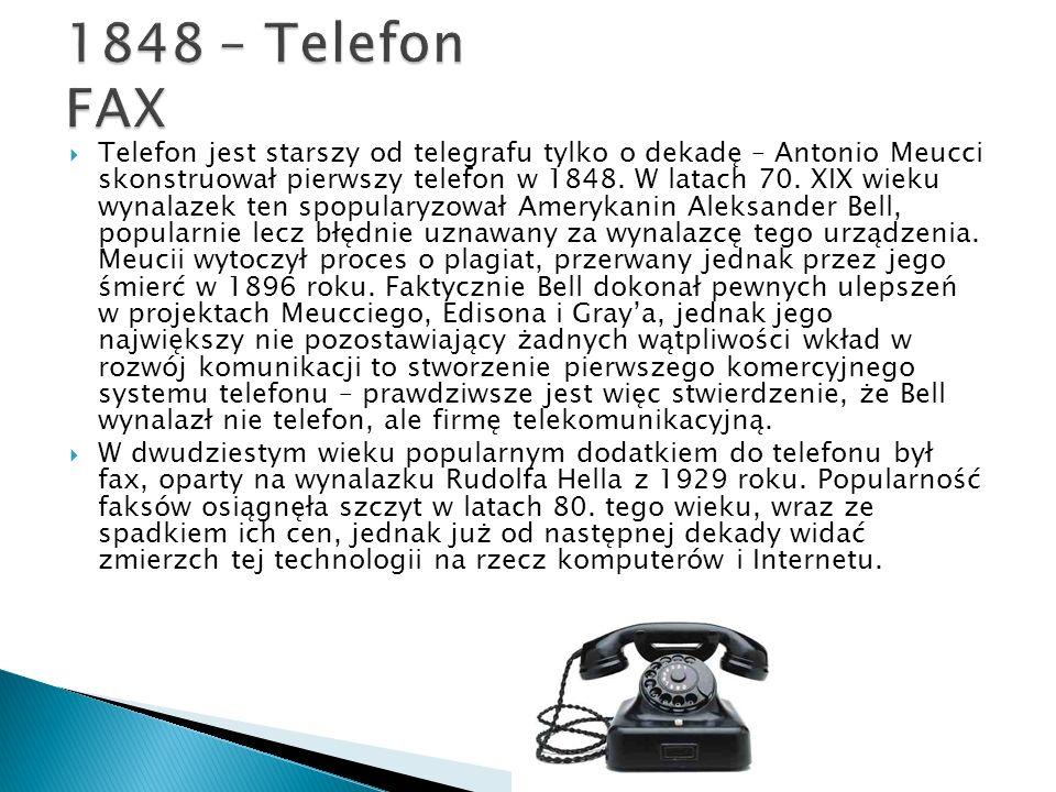 1848 – Telefon FAX
