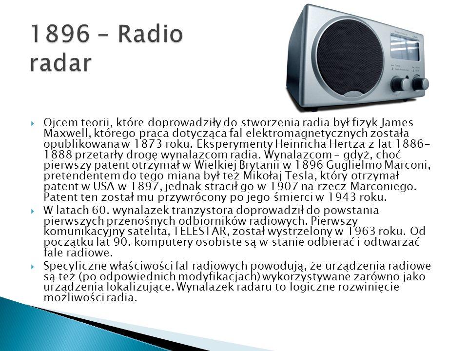 1896 – Radio radar