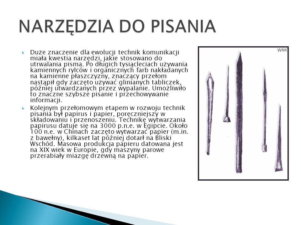 NARZĘDZIA DO PISANIA