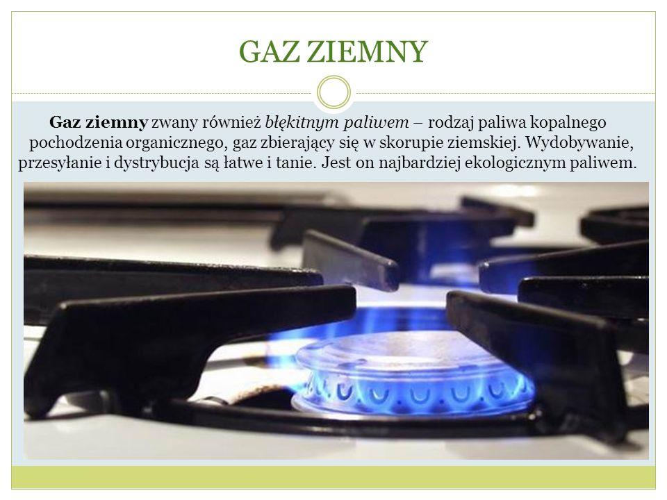 Gaz ziemny zwany również błękitnym paliwem – rodzaj paliwa kopalnego
