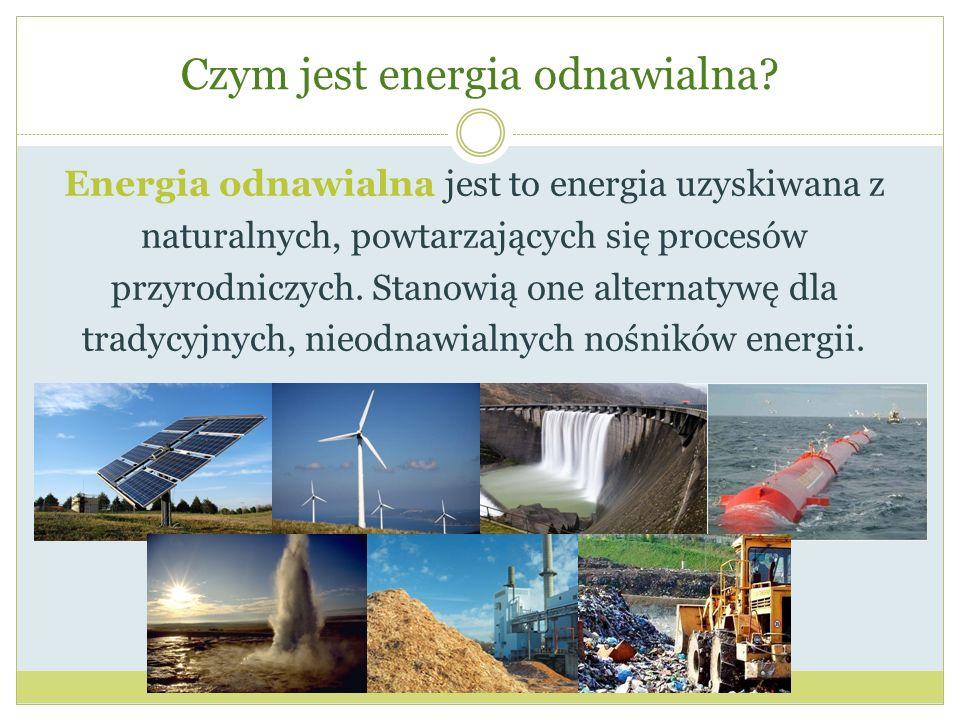 Czym jest energia odnawialna